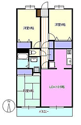 コスモAoi[3階]の間取り