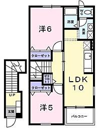 コートヤードV[1階]の間取り