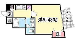 アネスト神戸西元町[302号室]の間取り