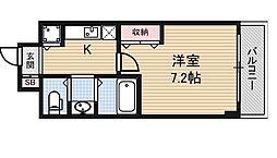 プラチナム松屋町[11階]の間取り