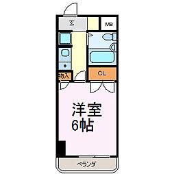 岩井橋ロイヤルハイツ[8I号室]の間取り