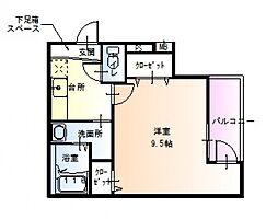 大阪府堺市堺区向陵中町1丁の賃貸アパートの間取り
