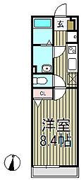 リブリ・材木座[203号室]の間取り