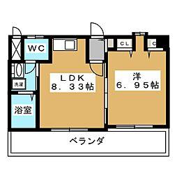 カサイマンション[4階]の間取り