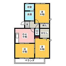 エーデルハイム水越[3階]の間取り