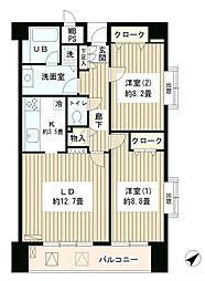 東京都渋谷区松濤2丁目の賃貸マンションの間取り