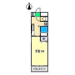 ムーンハイツ[2階]の間取り