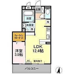 (仮)D−room新生町[202号室]の間取り