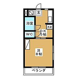 ラッセルコートB[4階]の間取り
