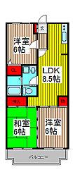 コート浦和[2階]の間取り