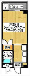 第二吉田コーポ[2階]の間取り