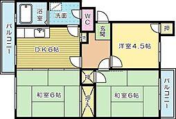 富士見サンハイツ[306号室]の間取り