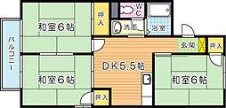 ハイツ桜橋 A棟[2階]の間取り