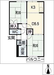 プチハウスタケダ[1階]の間取り