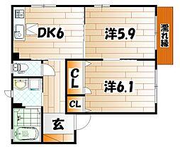 カサベルデ秋桜 B棟[1階]の間取り