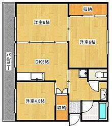 ソロンビル梅満II[4階]の間取り
