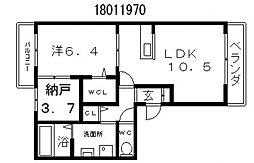 アゴーラ針中野[2階]の間取り