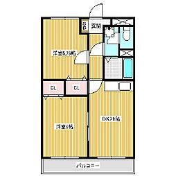 アーバンNK B棟[1階]の間取り