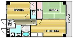 etoile 5[602号室]の間取り