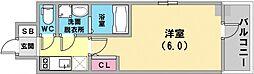 エスリード神戸ハーバークロス 3階1Kの間取り