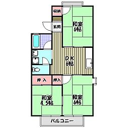 セジュール尾崎[2階]の間取り