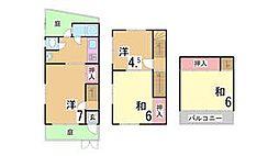 [テラスハウス] 兵庫県西宮市二見町 の賃貸【兵庫県 / 西宮市】の間取り