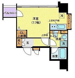 ザ・プレミアムスイートヨコハマ 10階1Kの間取り