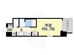 Osaka Metro御堂筋線 西中島南方駅 徒歩10分の賃貸マンション 10階1Kの間取り