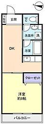 ボナール花島[3階]の間取り