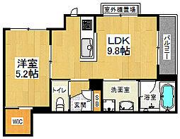 JR東海道・山陽本線 桂川駅 徒歩5分の賃貸マンション 3階1LDKの間取り