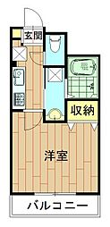 神奈川県川崎市中原区上小田中6丁目の賃貸マンションの間取り