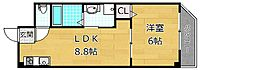 M'PLAZA津田駅前参番館[4階]の間取り