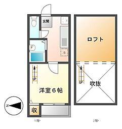 TYK名駅南[2階]の間取り