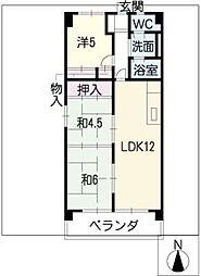 ブランメゾン赤坂[2階]の間取り