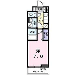 東宿郷3丁目アパート[2階]の間取り