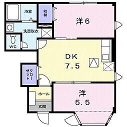 エテルネル生水II[1階]の間取り