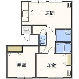 シティハイツ60[2階]の間取り