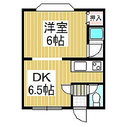 ノースコート01[2階]の間取り