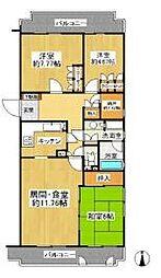 WING東戸塚[2階]の間取り