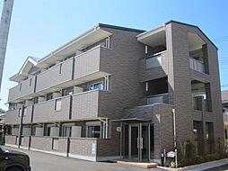 京都府京田辺市東鍵田の賃貸マンションの外観