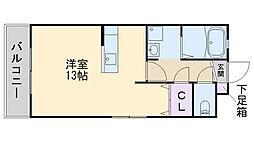 アクア波多江駅前[301号室]の間取り