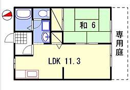 パルボナール[1階]の間取り