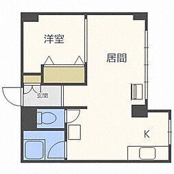 パレスマンション[702号室]の間取り