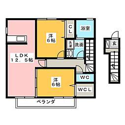 アズール[2階]の間取り