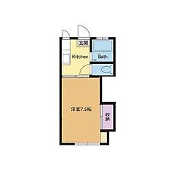 めぐみハイツII[1階]の間取り