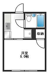 シティハイムムサシノ[103号室]の間取り