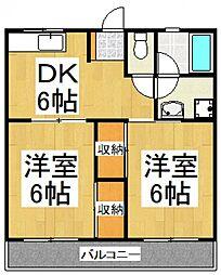 中島第三ハイツ[1階]の間取り
