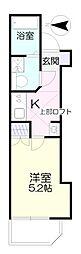 ファブリス生田 1階1Kの間取り