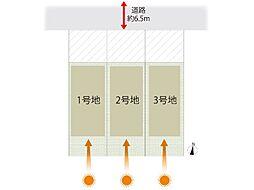 全体区画図。注文住宅も可能なのでデザインも多彩。窓やコンセントの位置も考慮。思い描いた住宅が建築頂けます。全部屋日当たりの取れる間取りが御提案出来ます。