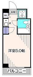 東京都小平市花小金井南町2丁目の賃貸マンションの間取り